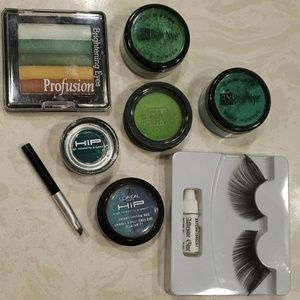 Loreal Ben Nye Green & Blue Eye Makeup Costume Kit